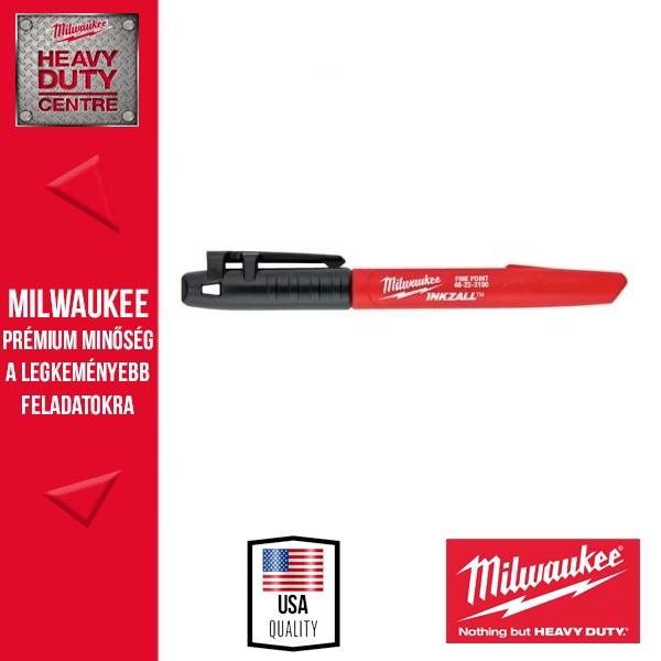 Milwaukee INKZALL™ Jelölő filc Vékony tartós hegyű Fekete - 1 db