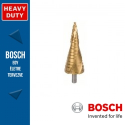 Bosch HSS-TiN lépcsős fúró, 16 lépcsős, M10 - M40, 10,0 mm, 125,5 mm