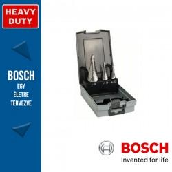 Bosch HSS lépcsős fúró készlet, 3 db 4 - 12 mm 9 lépcső, 4 - 20 mm 9 lépcső, 6 - 30 mm 13 lépcső