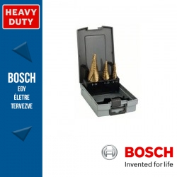 Bosch HSS-TiN lépcsős fúró készlet, 3 db, 4 - 12 mm 9 lépcső, 4 - 20 mm 9 lépcső, 6 - 30 mm 13 lépcső