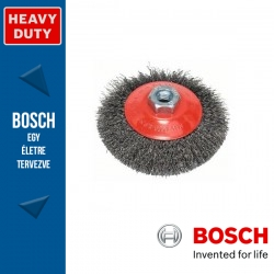 Bosch Kúpkefe hullámosított dróttal, acél M14 115 mm, 0,3 mm