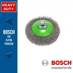 Bosch Kúpkefe hullámosított dróttal, nemesacél M14 100 mm, 0,35 mm