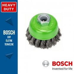 Bosch Fazékkefe fonott dróttal, nemesacél M14 65 mm, 0,35 mm