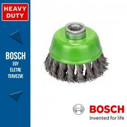 Bosch Fazékkefe fonott dróttal, nemesacél M14 75 mm, 0,5 mm