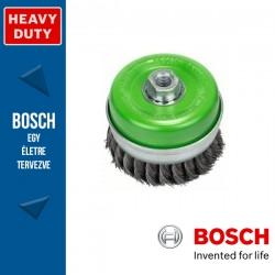 Bosch Fazékkefe fonott dróttal, nemesacél M14 115 mm, 0,35 mm