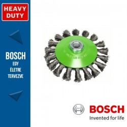 Bosch Kúpkefe fonott dróttal, nemesacél M14 115 mm, 0,35 mm