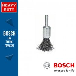 Bosch Ecsetkefe hullámosított dróttal, acél 15 mm, 0,2 mm, szár: 6 mm