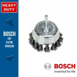 Bosch Fazékkefe fonott dróttal, acél 65 mm, 0,5 mm, szár: 6 mm