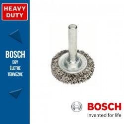 Bosch Korongkefe hullámosított dróttal, nemesacél 30 x 6 x 0,3 mm, szár: 6 mm