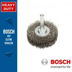 Bosch Korongkefe hullámosított dróttal, nemesacél 50 x 15 x 0,2 mm, szár: 6 mm