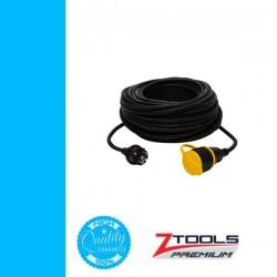 Z-TOOLS lengő hosszabbító kábel gumi szig. 30m 3x1,5 230V IP44