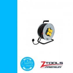 Z-TOOLS kábeldob fém, gumi szig. kábellel 50m 3x1,5 230V IP44