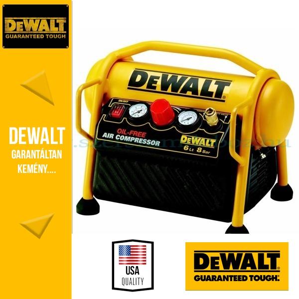 DeWalt DPC6MRC-QS Hordozható kompresszor