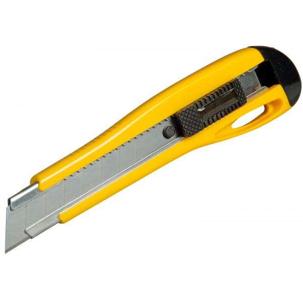 Stanley Műanyagházas fémmegvezetéses kés 18mm + 3 penge