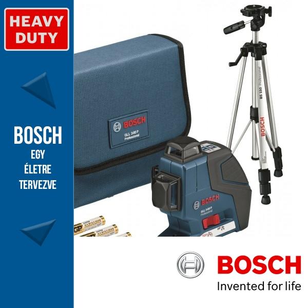 Bosch GLL 3-80 P Professional vonallézer + BS 150