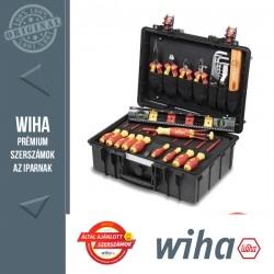 WIHA L villanyszerelő szerszámkoffer - 34 részes