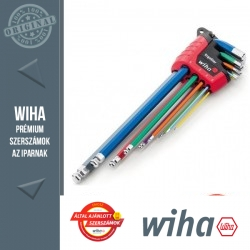 WIHA ErgoStar gömbvégű hosszú imbuszkulcs készlet színes - 9 részes SW1,5-10 mm