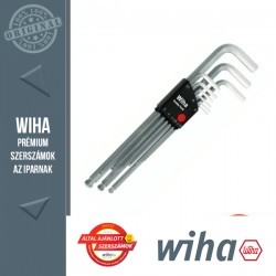 WIHA Compact gömbvégű hosszú imbuszkulcs készlet króm - 9 részes