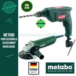 Metabo W 720-125 Sarokcsiszoló + SBE 601 Ütvefúró