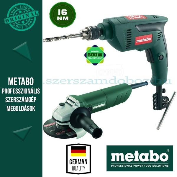 Metabo W 820-125 Sarokcsiszoló + SBE 601 Ütvefúró
