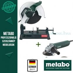 Metabo CS 23-355 Gyorsdaraboló-fémvágó + W 1080-125 Sarokcsiszoló