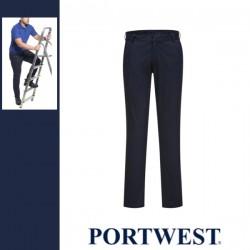 PORTWEST S232 - Stretch Slim Chino nadrág - sötét tengerészkék