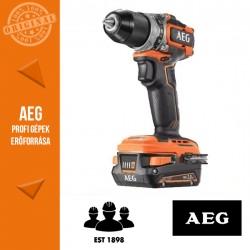 AEG BS18SBL-202 18 V szénkefe nélküli subkompakt fúrócsavarozó, 65Nm
