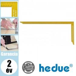 HEDUE Ácsderékszög kiosztással és rajzlyukkal - sárga 600 mm