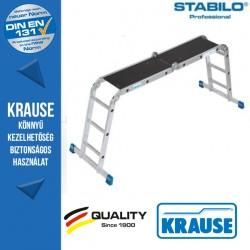 Krause Stabilo Professional univerzális csuklós létra 4x3 fokos,dobogóval