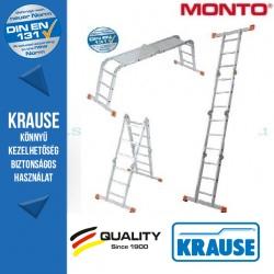 Krause Monto univerzális csuklós létra MultiMatic 4x3 fokos,dobogóval