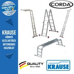 Krause Corda univerzális csuklós létra 4x3 fokos,dobogóval
