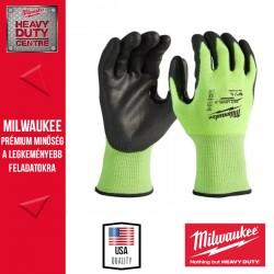 Milwaukee Hi-Vis Láthatósági Vágásbiztos kesztyű 3. vágási szint - 9/L - 1 pár