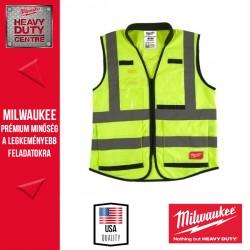 Milwaukee Prémium Láthatósági mellény - Sárga (S/M)