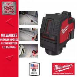 Milwaukee L4 CLL-301C USB Újratölthető Zöld Keresztvonalas lézer