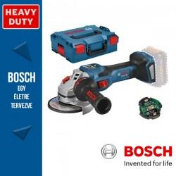 BOSCH GWS 18V-15 SC Professional Akkus Sarokcsiszoló L-BOXX tárolódobozban (akku és töltő nélkül)