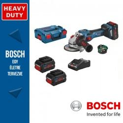 BOSCH GWS 18V-15 SC Professional Akkus Sarokcsiszoló L-BOXX tárolódobozban (2 x 18V 8.0Ah akkuval és töltővel)
