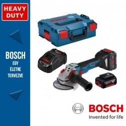 BOSCH GWS 18V-10 C Professional Akkus Sarokcsiszoló L-BOXX tárolódobozban (2 x 18V 5.0Ah akkuval és töltővel)