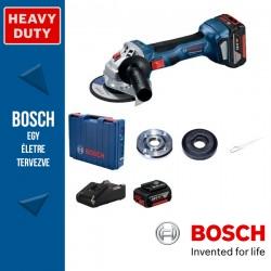 BOSCH GWS 180-LI Professional Akkus Sarokcsiszoló Szerszámtáskában 125 mm (2 x 4,0 Ah akkuval és töltővel)