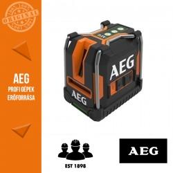 AEG CLG330-K Három vonalas zöld fényű szintezőlézer lehajtható lábakkal