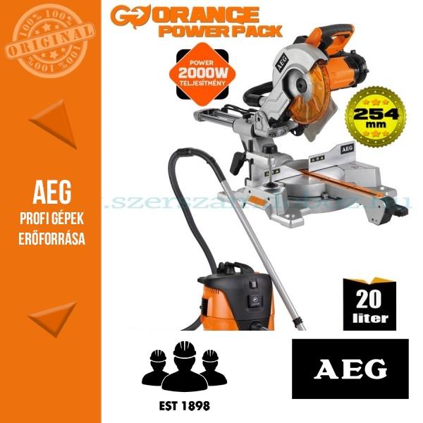 AEG PS 254 L Gérvágófűrész + AP2-200 ELPC ipari porszívó