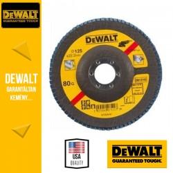DEWALT DT3267-QZ Lamellás csiszolótárcsa 125 mm x 22,2 mm 80 g - mélyített