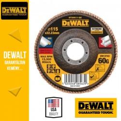 DEWALT DT30611-QZ EXTREME Lamellás csiszolótárcsa 115 mm x 22,2 mm 60 g - lapos Jumbo