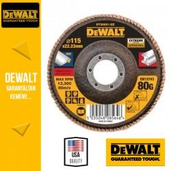 DEWALT DT30621-QZ EXTREME Lamellás csiszolótárcsa 115 mm x 22,2 mm 80 g - lapos Jumbo