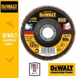 DEWALT DT30602-QZ EXTREME Lamellás csiszolótárcsa 125 mm x 22,2 mm 40 g - lapos Jumbo