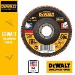 DEWALT DT30622-QZ EXTREME Lamellás csiszolótárcsa 125 mm x 22,2 mm 80 g - lapos Jumbo