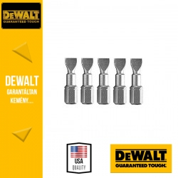 DEWALT DT7107-QZ Torziós csavarozóbetét SL6.5 25 mm hasított - 5 db/csomag