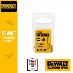 DEWALT DT7105-QZ Torziós csavarozóbetét SL4.5 25 mm hasított - 5 db/csomag