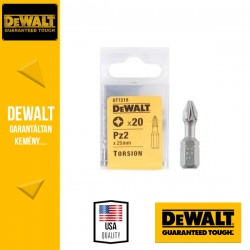 DEWALT DT7218-QZ Pozidrív torziós csavarozóbetét PZ2 25 mm - 20 db/csomag