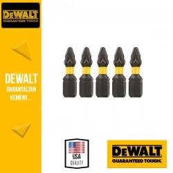 DEWALT DT7387T-QZ EXTREME IMPACT Torziós csavarbitek Pz2 25 mm - 5 db