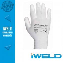 IWELD White Frog PU mártott védőkesztyű, fehér - 10-es